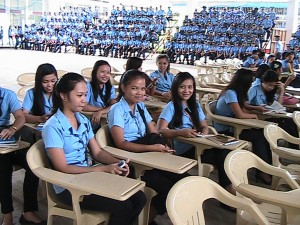 Students at Negros Oriental State University